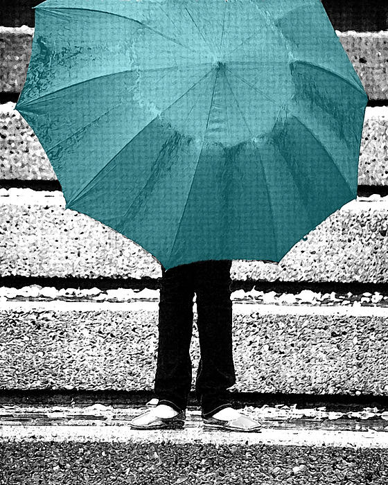 Tiffany Blue Umbrella Photograph