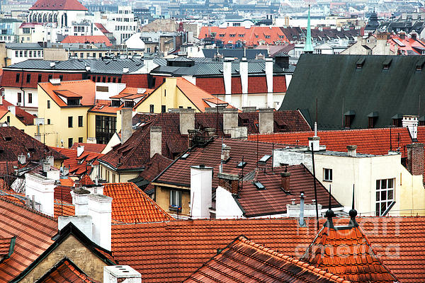 Top View In Prague Photograph - Top View In Prague by John Rizzuto