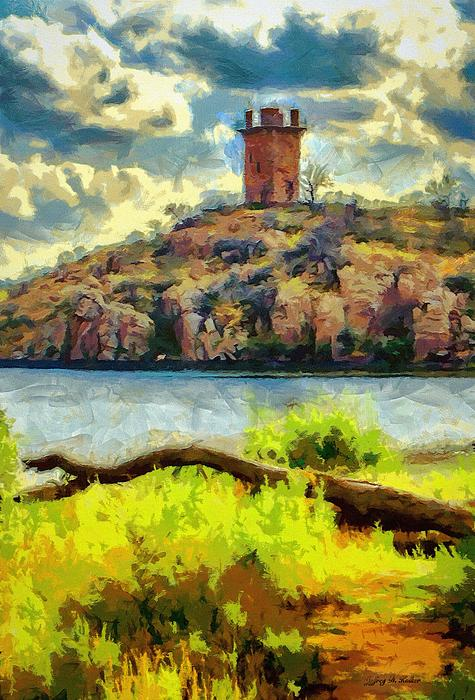 Jeb Johnson Painting - Tower On The Bluff by Jeff Kolker