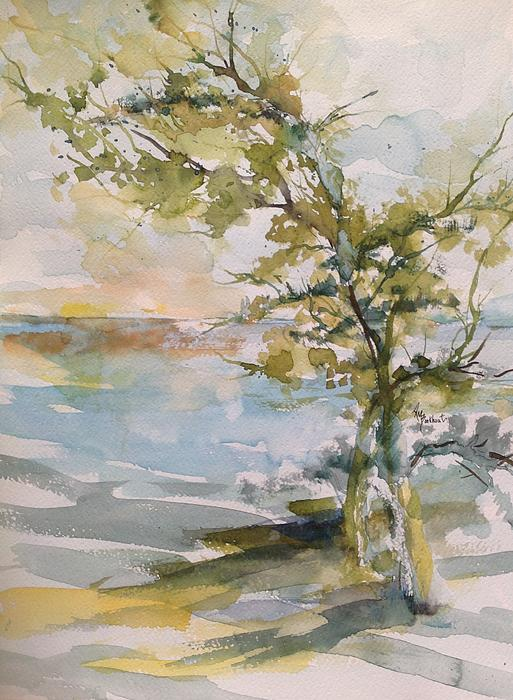 Trees Painting - Tree Study by Robin Miller-Bookhout