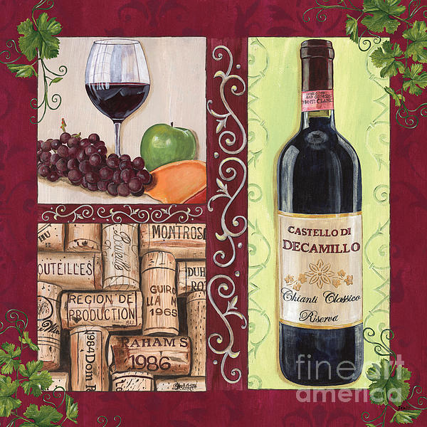 Wine Painting - Tuscan Collage 2 by Debbie DeWitt