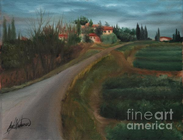 Tuscan Road Painting  - Tuscan Road Fine Art Print