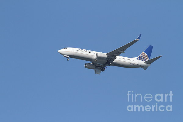 Transportation Photograph - United Airlines Jet 7d21942 by Wingsdomain Art and Photography