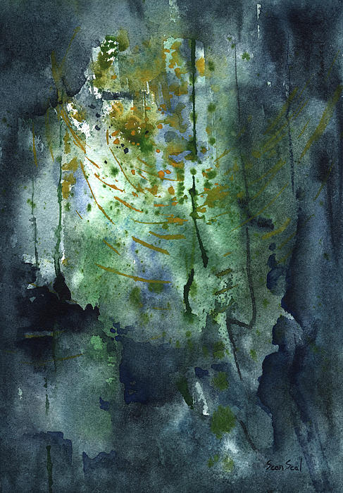 Abstract Painting - Untitled Abstract 128-13 by Sean Seal