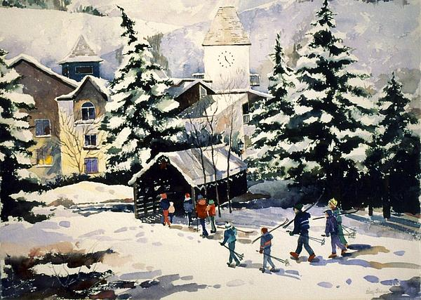 Vail Painting - Vail Covered Bridge by Patty  Frierson