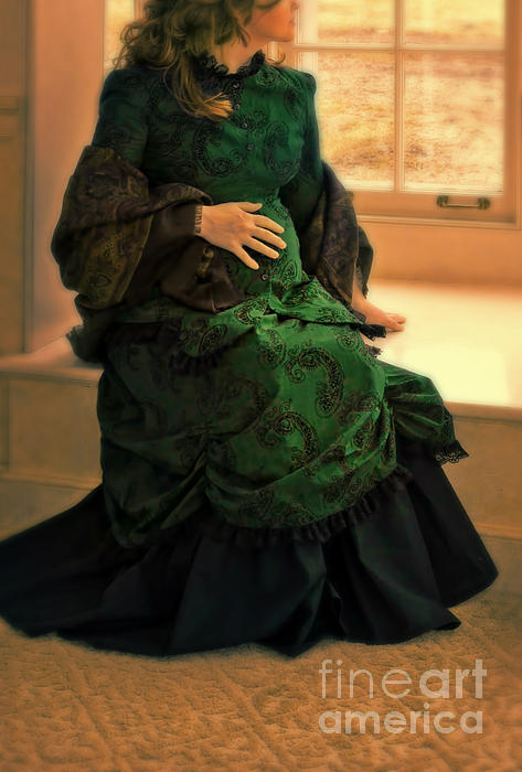 Woman Photograph - Victorian Lady Expecting A Baby by Jill Battaglia
