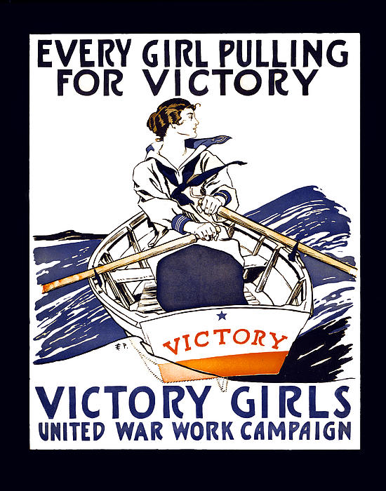 world War Photograph - Victory Girls Of W W 1     1918 by Daniel Hagerman