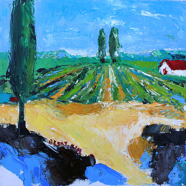 Vineyard 3 Painting  - Vineyard 3 Fine Art Print