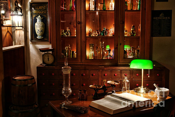 Apothecary Photograph - Vintage Apothecary Shop by Olivier Le Queinec