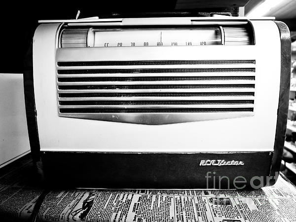 Old Photograph - Vintage Radio by Edward Fielding