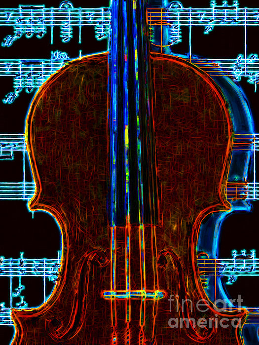 Music Photograph - Violin - 20130128v1 by Wingsdomain Art and Photography