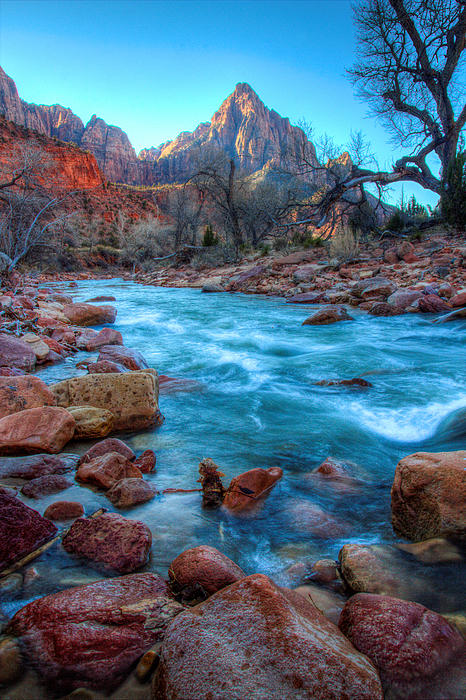 Virgin River Photograph - Virgin River Before The Watchman by Laura Palmer
