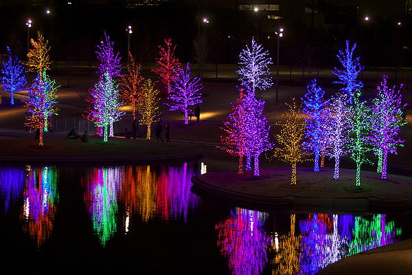 Vitruvian Park Holiday Lights is a photograph by John Babis which was ...