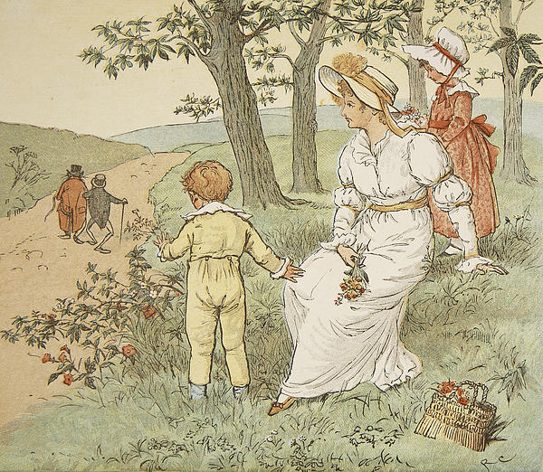 Randolph Caldecott Painting - Walking To Mouseys Hall by Randolph Caldecott