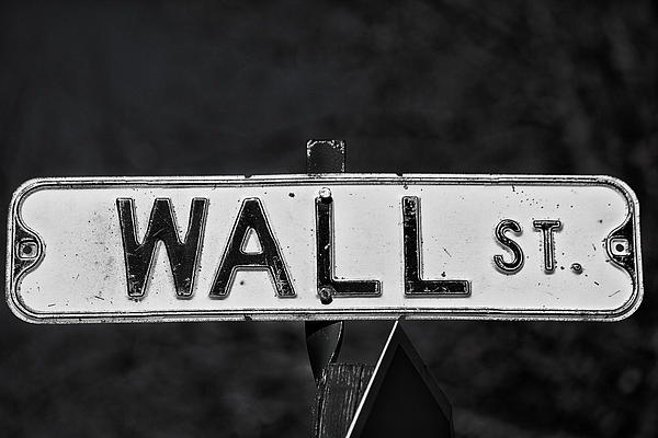 Sign Photograph - Wall Street by Karol Livote