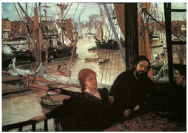 James Abbott Mcneill Whistler Painting - Wapping by James Abbott McNeill Whistler
