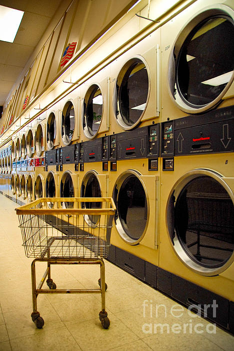 Buggy Photograph - Washing Machines At Laundromat by Amy Cicconi
