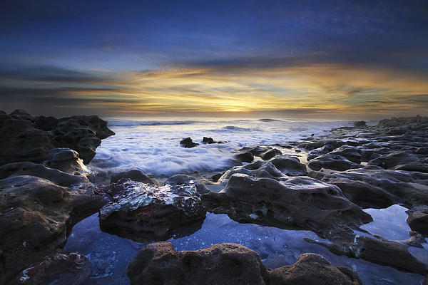 Clouds Photograph - Waves At Coral Cove Beach by Debra and Dave Vanderlaan