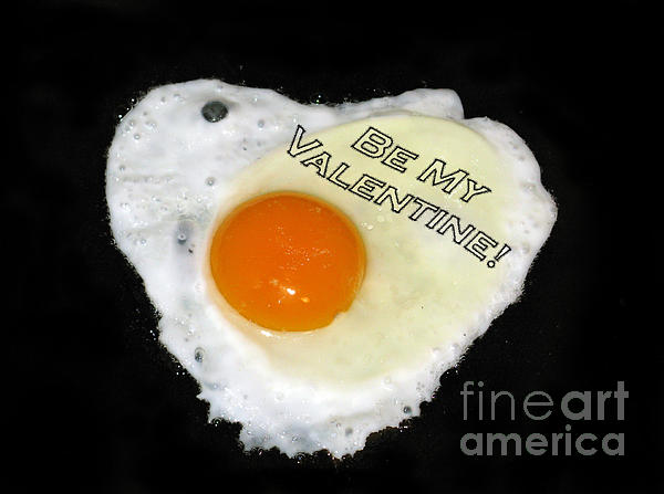 Egg And Pepper Photograph - We Are Like Egg And Pepper. Be My Valentine by Ausra Huntington nee Paulauskaite