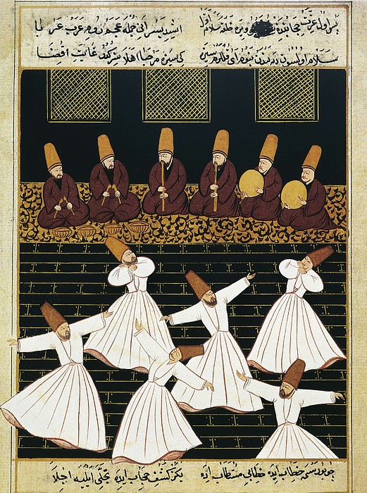 Whirling Dervishes 16th C.. Ottoman Photograph  - Whirling Dervishes 16th C.. Ottoman Fine Art Print