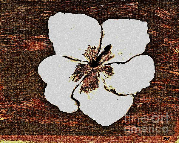 Painting Painting - White Hibiscus Digital Painting by Marsha Heiken