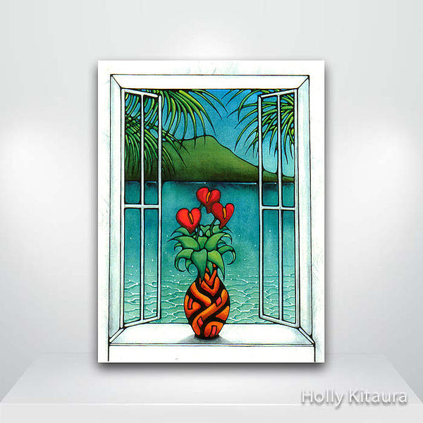 Window Painting Painting - White Window by Holly Kitaura