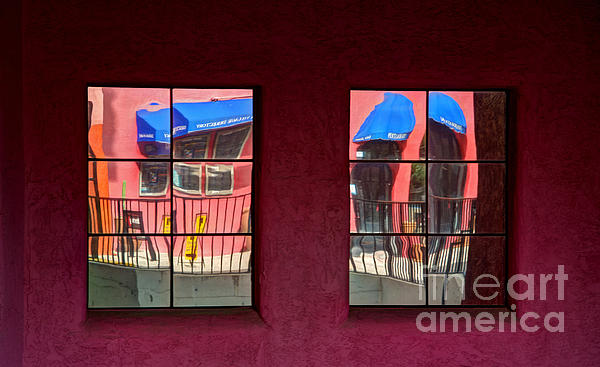 Window Reflections Photograph - Window Reflections by Vivian Christopher