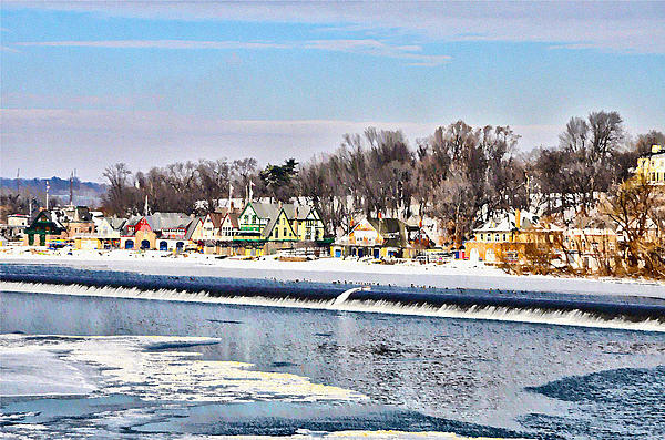 Winter At Boathouse Row In Philadelphia Photograph - Winter At Boathouse Row In Philadelphia by Simon Wolter