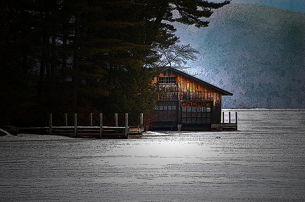 Winter Boathouse Photograph  - Winter Boathouse Fine Art Print