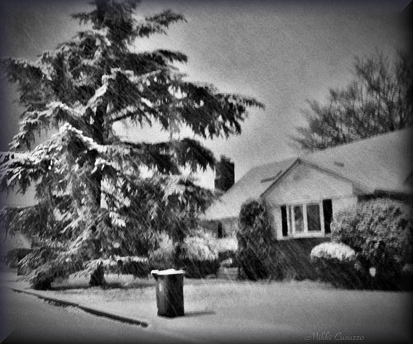 Seasonal Photograph - Winter In Black And White by Mikki Cucuzzo