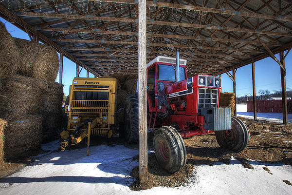 Winter Photograph - Winter On The Farm by Eric Gendron