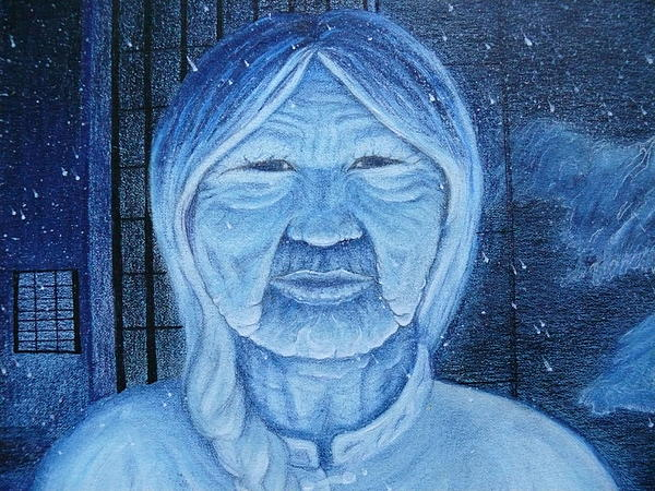Winter Painting - Winter Portrait by Jacquelyn Roberts