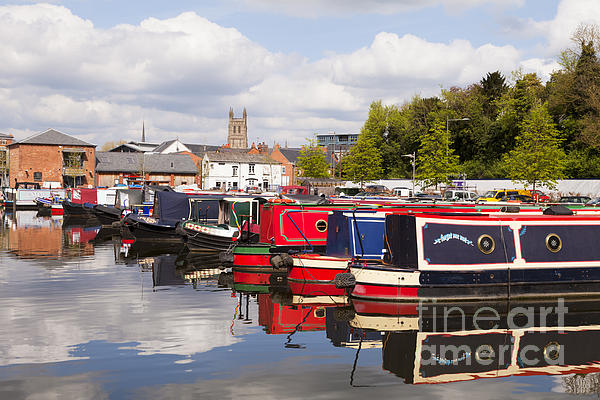 Worcester Photograph - Worcester Diglis Basin Narrow Boats by Colin and Linda McKie