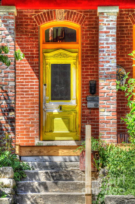 Antique Photograph - Yellow Door by Liane Wright