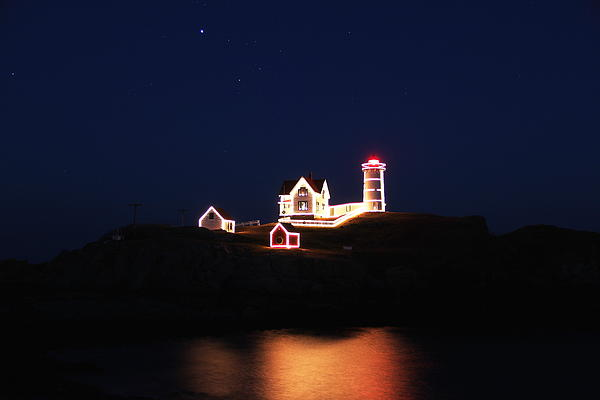 Nubble Lighthouse Photograph - York Light by Andrea Galiffi