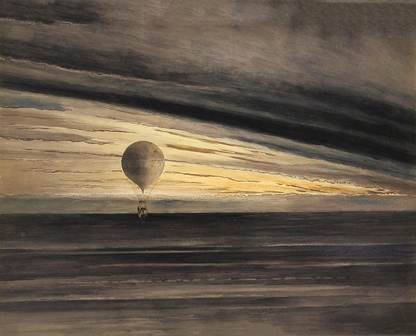 Balloon Photograph - Zenith At Sunrise by Digital Reproductions