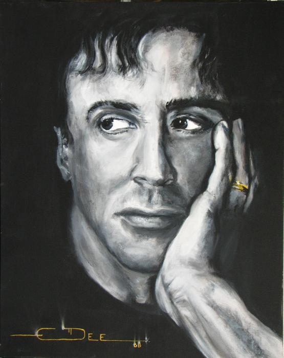 sylvester stallone fotos. Sylvester Stallone Painting
