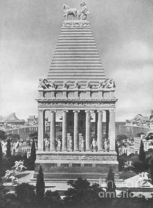 History Photograph - 7 Wonders Of The World, Mausoleum by Photo Researchers