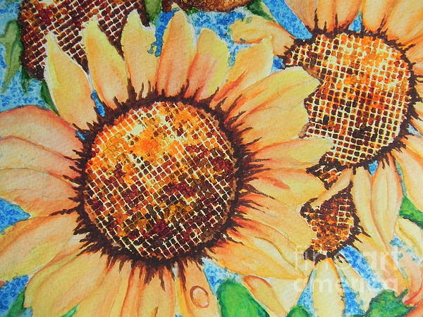 Chrisann Ellis - Abstract Sunflowers