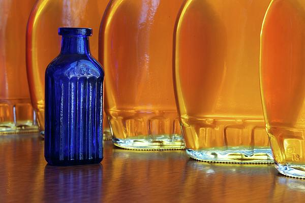 Bottle Of Blue Photograph  - Bottle Of Blue Fine Art Print