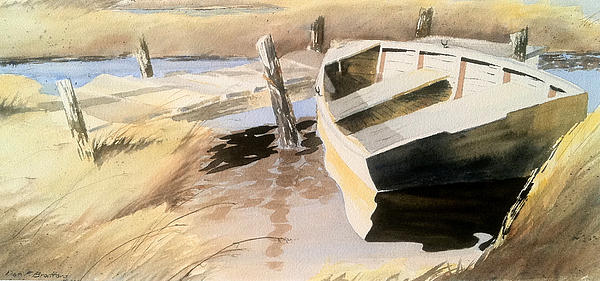 Docs Old Rowboat Painting  - Docs Old Rowboat Fine Art Print