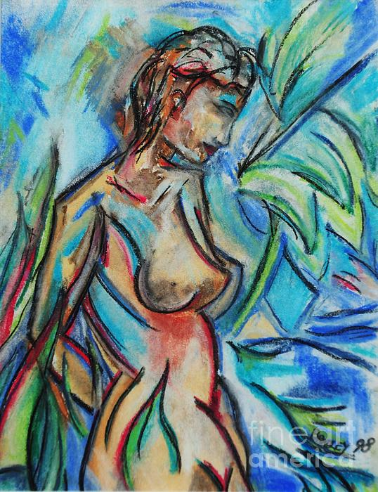 Dream Girl 98 Painting  - Dream Girl 98 Fine Art Print