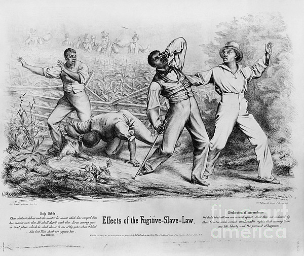 Historical Photograph - Fugitive Slave Law by Photo Researchers