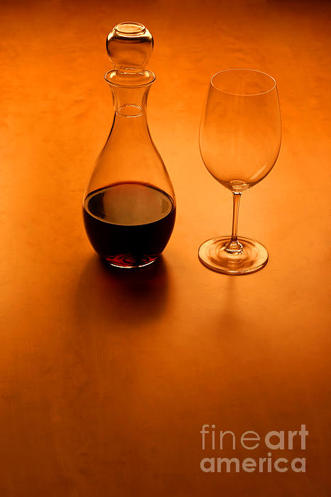 Glas And Wine  Photograph  - Glas And Wine  Fine Art Print