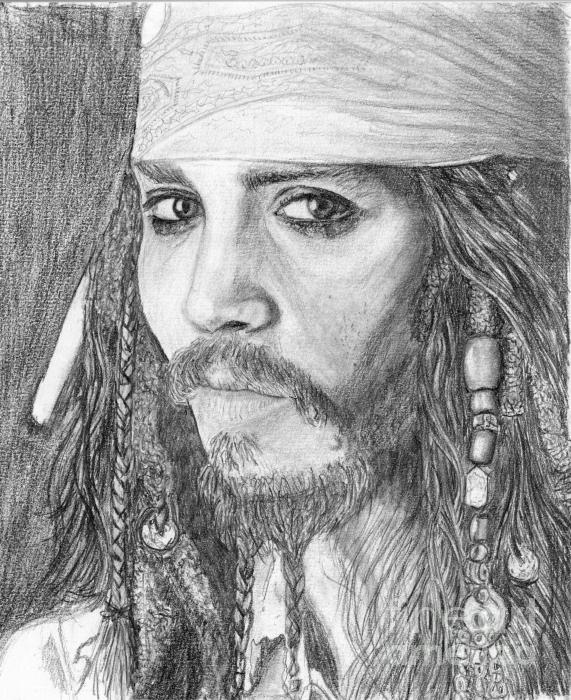 a drawing of jack sparrow johnny depp. Jack Sparrow Johnny Depp