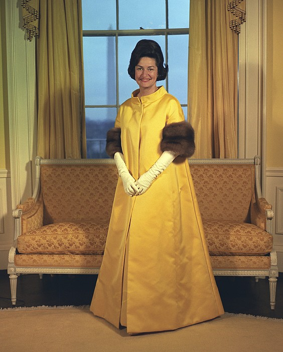 History Photograph - Lady Bird Johnsons Inaugural Gown. The by Everett