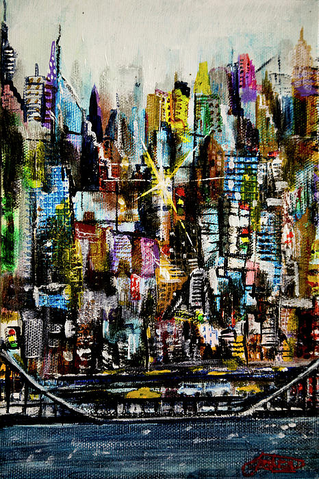 Manhattan Morning Painting  - Manhattan Morning Fine Art Print