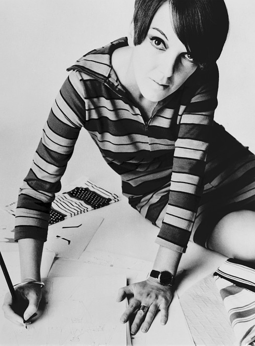 History Photograph - Mary Quant, British Mod Fashion by Everett