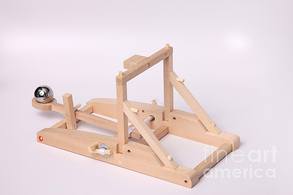 Catapult Photograph - Model Catapult by Ted Kinsman