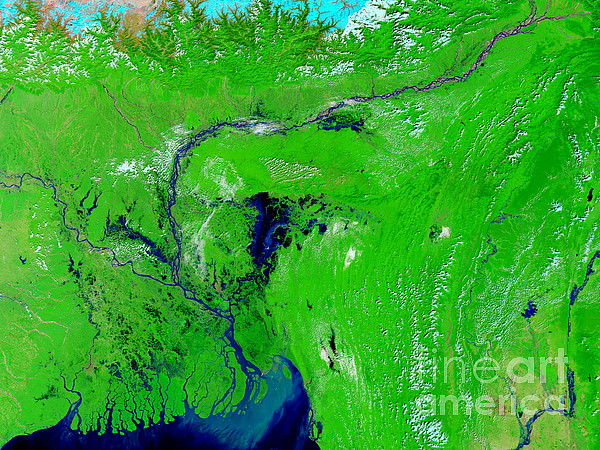 20 October 2004 Photograph - Monsoon Floods by NASA / Science Source